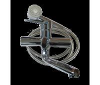 PUD3-A045 смеситель для ванны, кор. нос, див. в корпусе (ZEGOR)